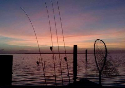 slider 5a poles net boat sunrise